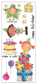 SEI Birthday Girl Stickers